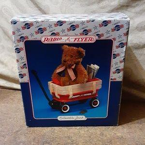 Radio Flyer / Enesco Ceramic Teddy Bear Bank - Bra